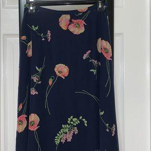 Liz Claiborne Skirts - Liz Claiborne 100% Silk Floral Maxi Skirt